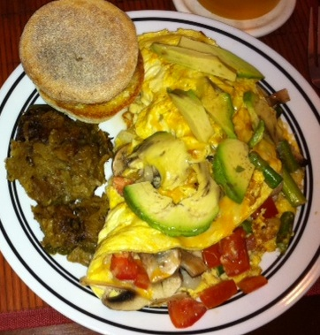 One of Marc's omelets